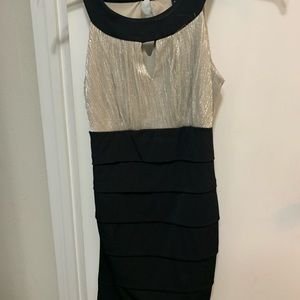Cocktail/formal dress black and champagne